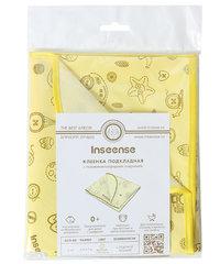 INSEENSE. Клеенка ПВХ с окантовкой 50x70 см, желтая с рисунком