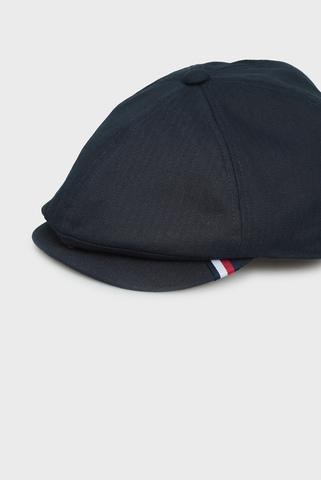 Мужское темно-синее кепи HERRINGBONE FLAT Tommy Hilfiger