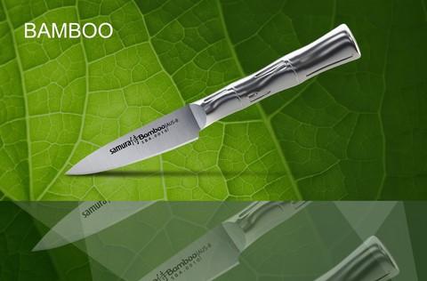 SBA-0010 Нож кухонный стальной овощной SAMURA BAMBOO