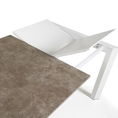 Стол Atta 140 (200) x90 белый керамика