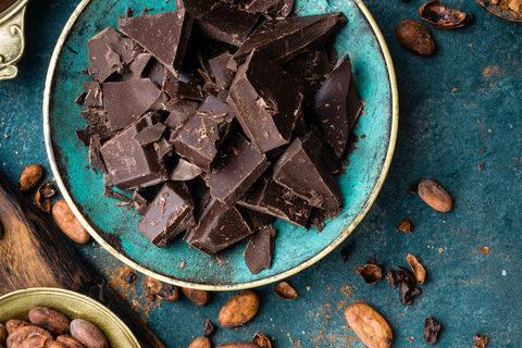 Темный шоколад Эквадор в кусочках