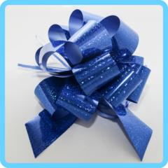 Бант подарочный синий 5 см