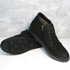Мужские зимние ботинки на меху Luciano Bellini 71783 Black.
