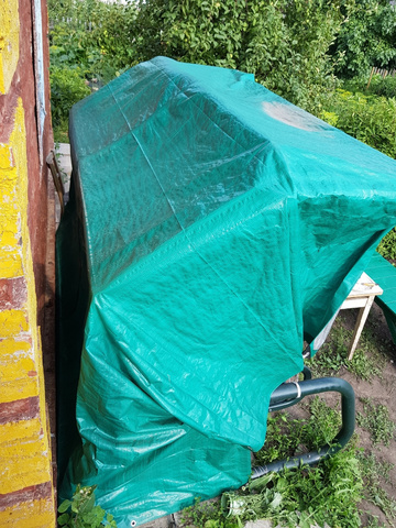 Тент тарпаулин, зеленый, 5 м х 6 м