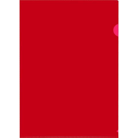 Папка-уголок Attache A4 красная 150 мкм (10 штук в упаковке)