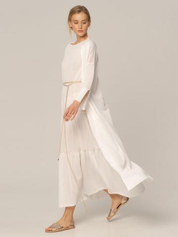 Женское платье белого цвета из вискозы - фото 4