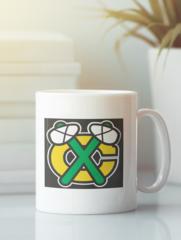 Кружка с рисунком НХЛ Чикаго Блэкхокс (NHL Chicago Blackhawks) белая 0011
