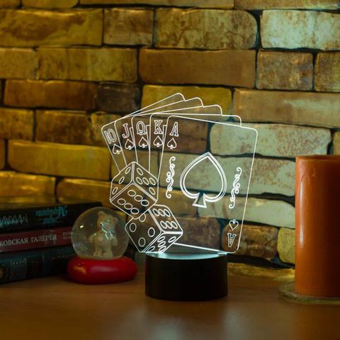 3D лампа Флэш-рояль