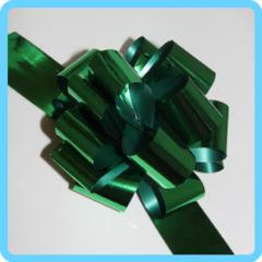 Бант подарочный зеленый 5 см