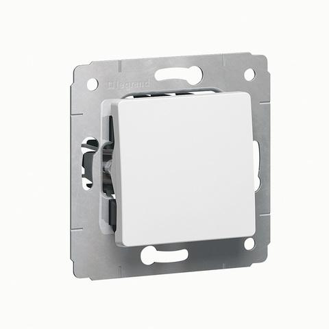 Выключатель одноклавишный без фиксации кнопка звонка - 10 AX - 250 В~. Цвет Белый. Legrand Cariva (Легранд Карива). 773611
