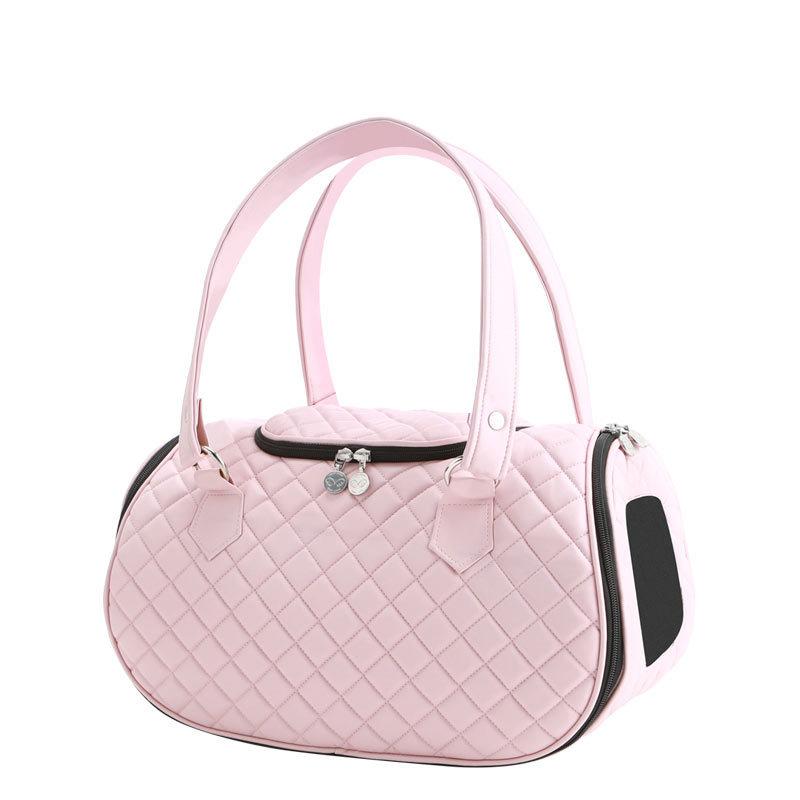 купить стеганную розовую сумку для собаки