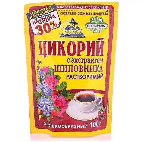 Цикорий ЗДОРОВЬЯ растворимый Шиповник 100 гр