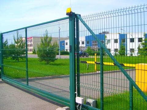 Откатные ворота 3д с электроприводом