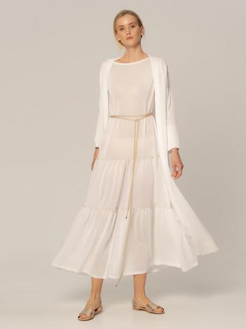 Женское платье белого цвета из вискозы - фото 2