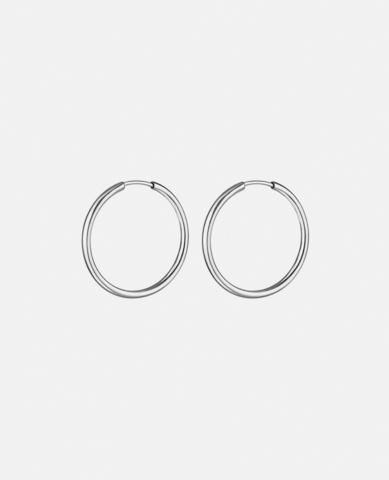 Серьги-кольца Hoops Endless silver 15 mm