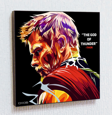 Картина постер Тор в стиле ПОП-АРТ