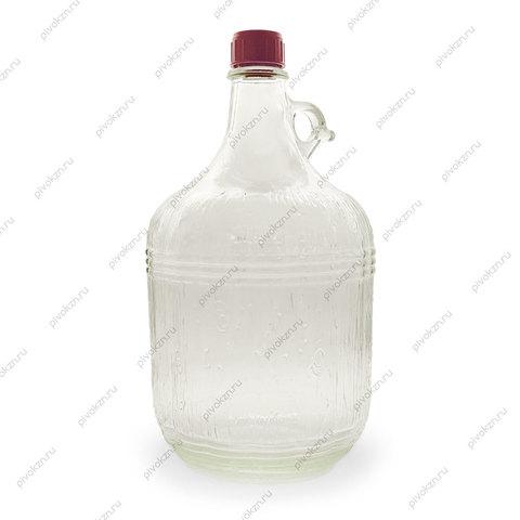 Бутылка стеклянная 5 л «Дарья»