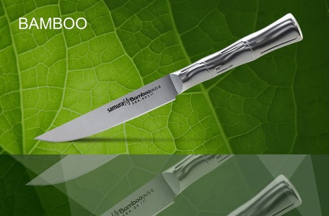 SBA-0031 Нож кухонный стальной для стейка SAMURA BAMBOO