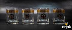 Подарочный набор из 4 стаканов для виски «Империя», 275 мл, фото 3