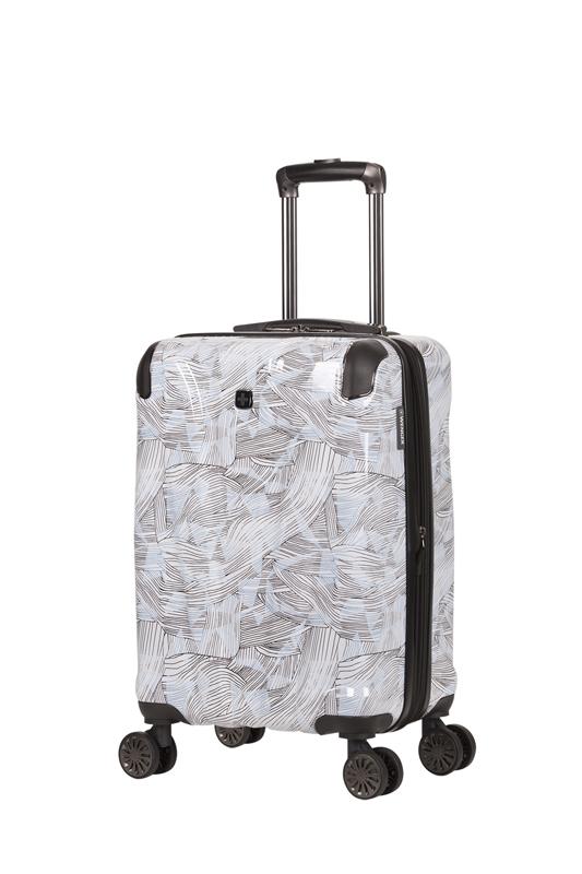 Чемодан WENGER CASCADE, цвет белый с принтом 35x23x49. 39л. (WG7330000154).