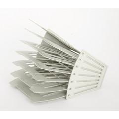 Лоток для бумаг вертикальный/горизонтальный Attache веерный универсальный 6 отделений серый
