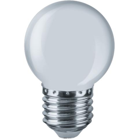 Лампа Navigator 61 243 NLL-G45-1-230-W-E27 Белая