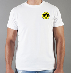 Футболка с принтом FC Borussia Dortmund (ФК Боруссия) белая 007