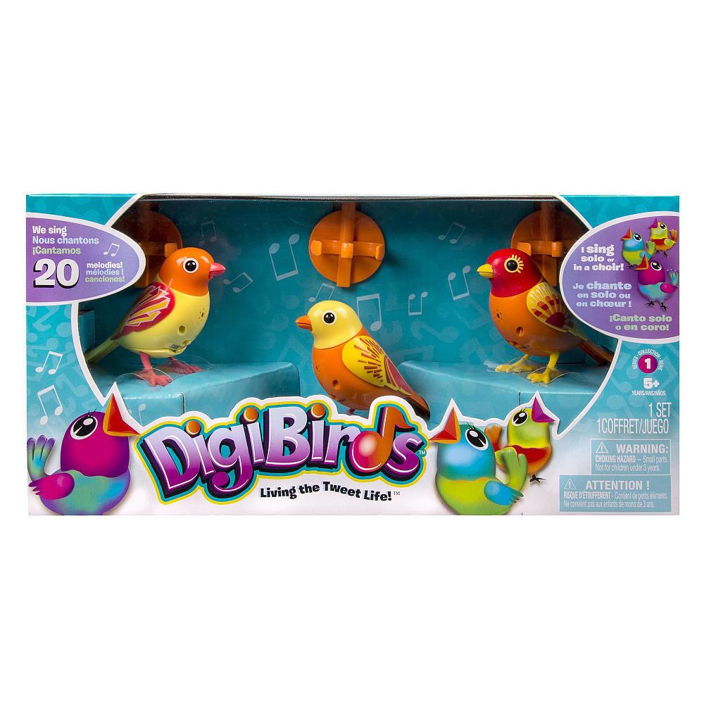 DigiBirds - Orange 3 Pack Set