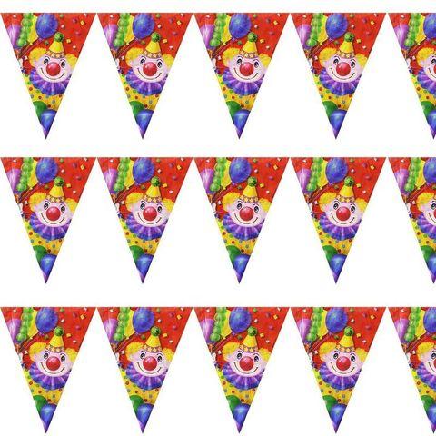 Гирлянда-вымп Клоун с шарами 360см/G