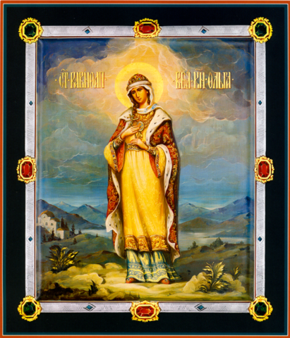 Икона святая княгиня Ольга на дереве на левкасе мастерская Иконный Дом