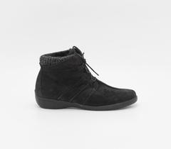 Ботинки из натурального нубука на шнурке