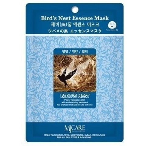 Маска для лица тканевая ласточкино гнездо Mijin Bird's Nest Essence Mask