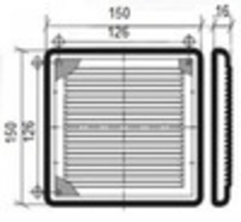 Решетка накладная 180х180 мм VENTS Жалюзи/шнурок