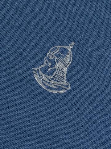 Толстовка на молнии «Великоросс» цвета синего денима