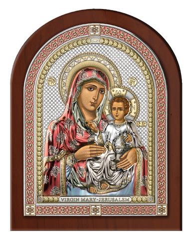 Серебряная икона Божья Матерь Иерусалимская (эксклюзивная рамка)