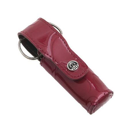 Маникюрный набор GD, 3 предмета, цвет красный, кожаный футляр