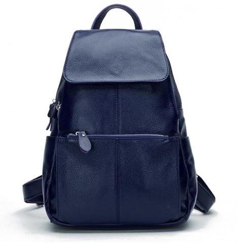 Женский кожаный рюкзак Zency Blue