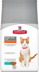 Развесной корм! Корм для стерилизованных кошек Hill`s Science Plan Sterilised Cat Young Adult, с тунцом