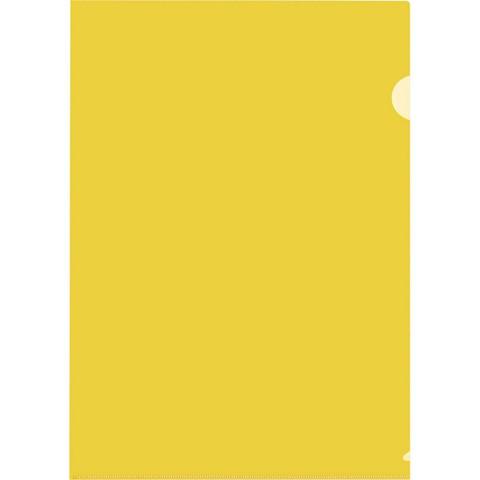 Папка-уголок A4 желтая 180 мкм (10 штук в упаковке)