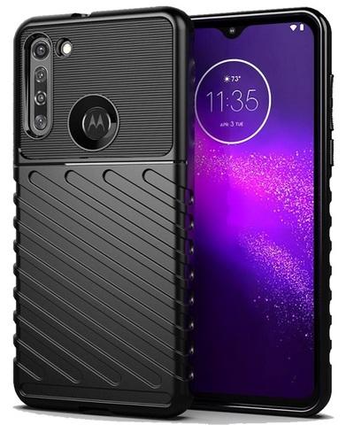 Противоударный чехол на телефон Motorola G8, серия Onyx от Caseport
