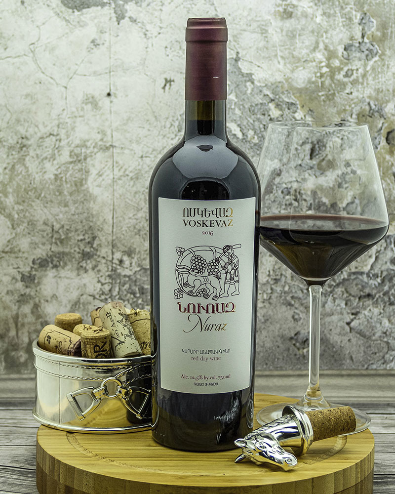 Вино Voskevaz Нураз Красное Сухое 2016 г.у. 12,5% 0,75 л.