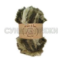 Wool Sea Fancy Fur 764 (зелёный меланж)