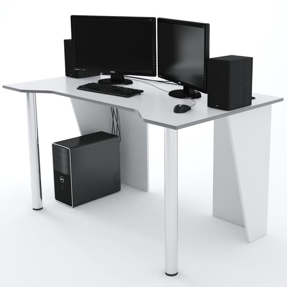 Стол Компьютерный LevelUP 1400 Белый/Серый