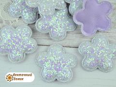 Мягкий декор цветочки конфетные бледно-сиреневые