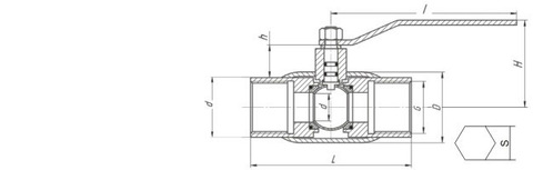 Конструкция LD КШ.Ц.М.025.040.П/П.02 Ду25 полный проход