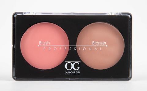 OG-Y6875 Румяна для лица шелковистые+бронзатор тон 05,Blush/Soft Lights Duo