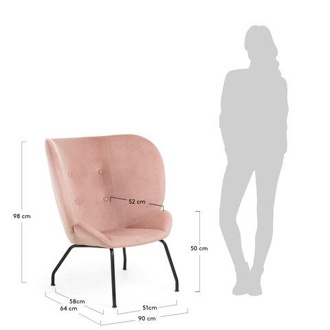 Кресло Egg Vernen розовое CC0753J24