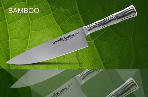SBA-0085 Нож кухонный стальной Шеф SAMURA BAMBOO