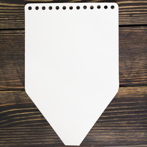 Клапан для рюкзачка кожаный белый