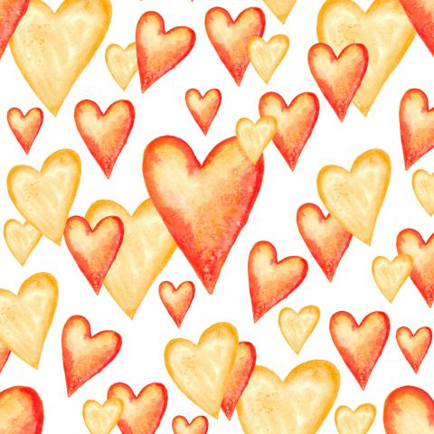 Оранжевые сердца